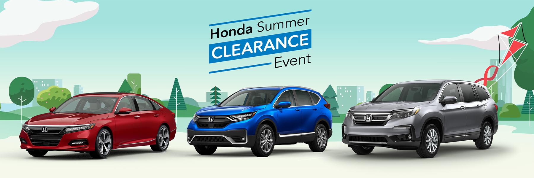 Summer Honda Clearance Event 2020