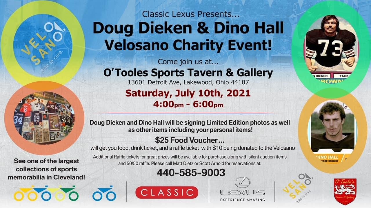 Doug Dieken and Dino Hall Charity Event Information