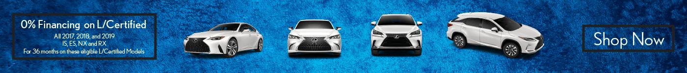 NX RX ES IS Lexus 0 percent Finance