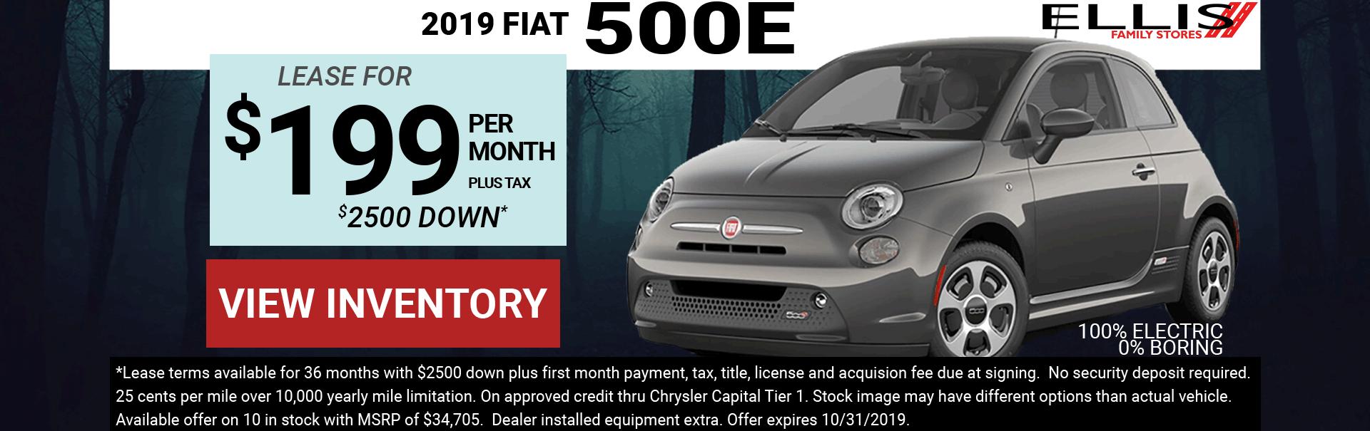 Fiat 500e Lease Special