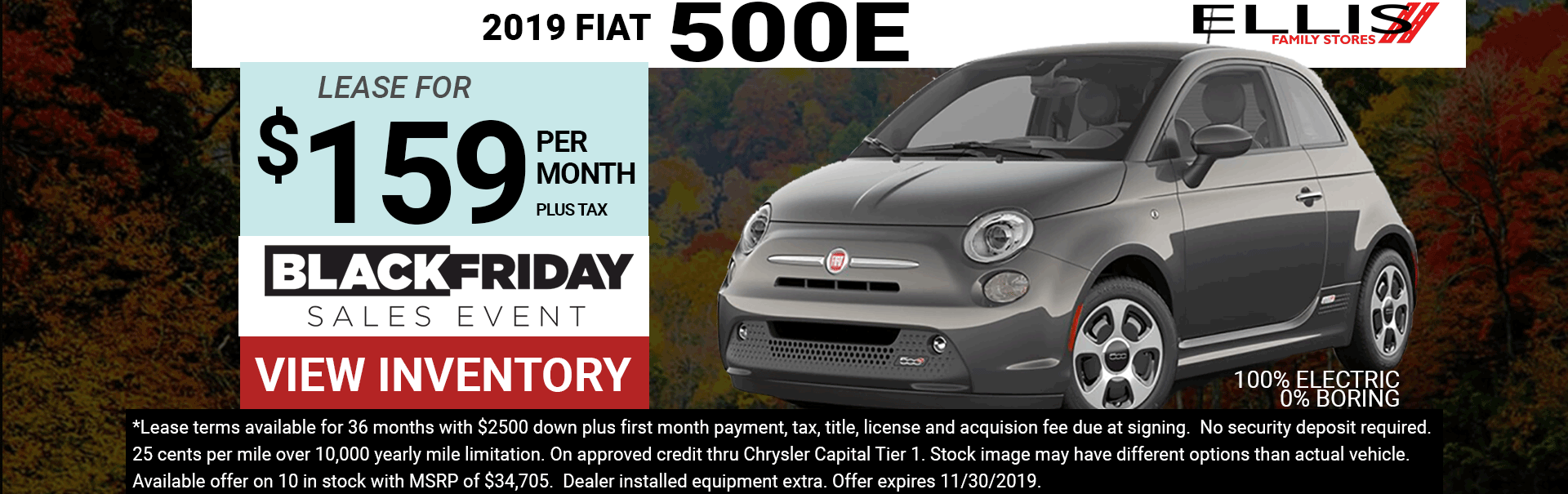 500e Black Friday Lease Special