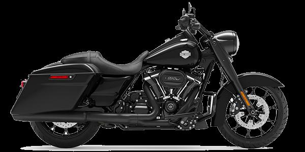 2021 Harley-Davidson Road King black color.