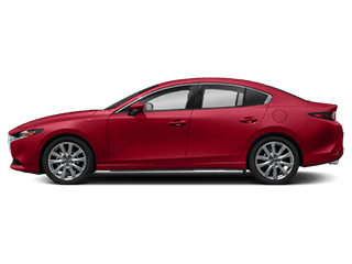 Side view of the Mazda3 Sedan