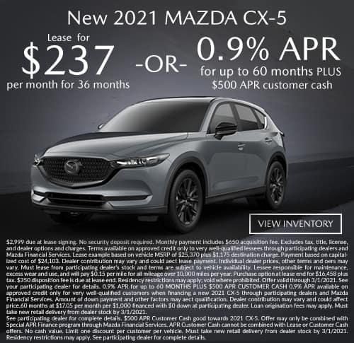 All New 2021 Mazda CX-5