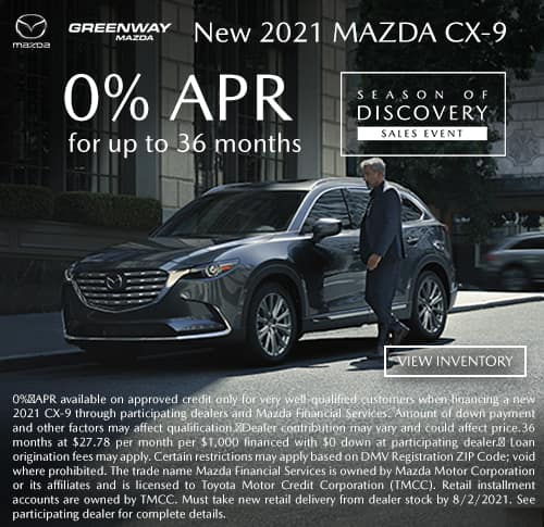 New 2021 Mazda CX-9 Offer