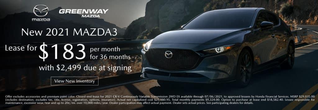 New 2021 Mazda3 Offer