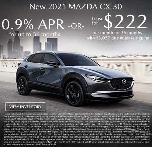 All New 2021 Mazda CX-30