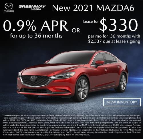 New 2021 Mazda6 Offer