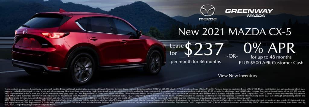 New 2021 Mazda CX-5 Offer