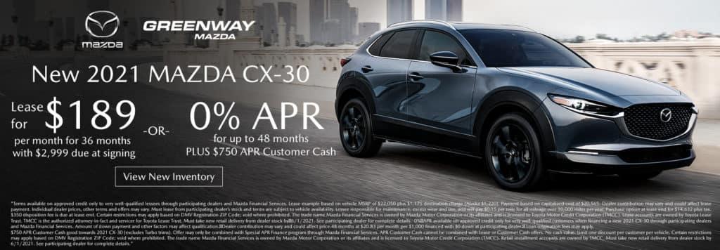 New 2021 Mazda CX-30 Offer