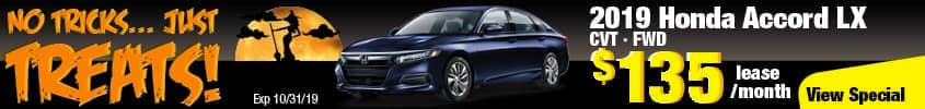 2019 Honda Accord LX FWD Lease for $135 a month for 24 months