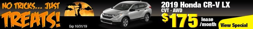 2019 Honda CR-V LX AWD Lease for $175 a month for 36 months