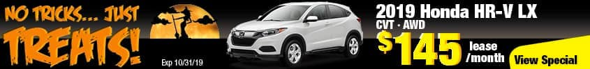 2019 Honda HR-V LX AWD Lease for $145 a month for 36 months