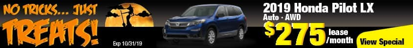 2019 Honda Pilot LX AWD Lease for $275 a month for 36 months