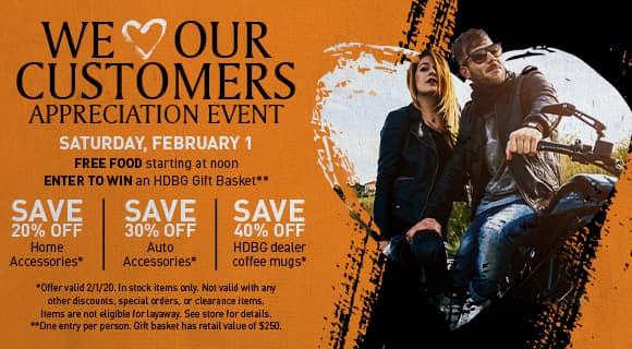 customer appreciation event February 1, 2020