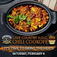 Chili Cookoff, saturday, february 8, set up begins at 11am, open to everyone