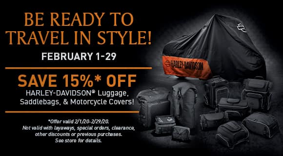 luggage sale, 15% off select luggage, exclusions apply, see store for details