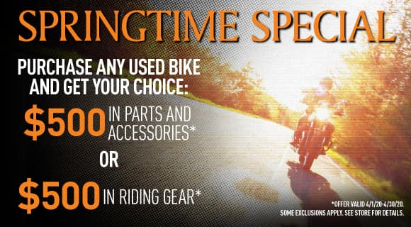 Used bike special offer
