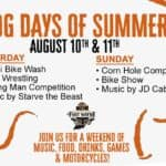 promotion for Hog Days of Summer Aug 10th & 11th