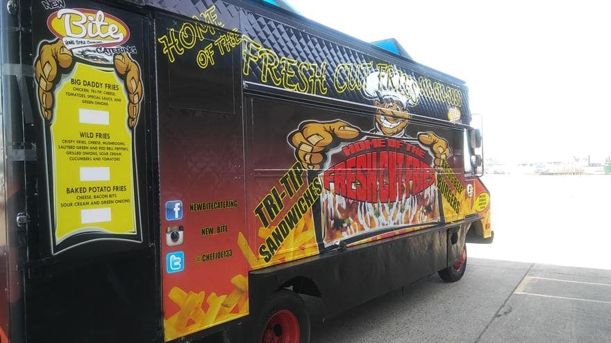The side of the food truck