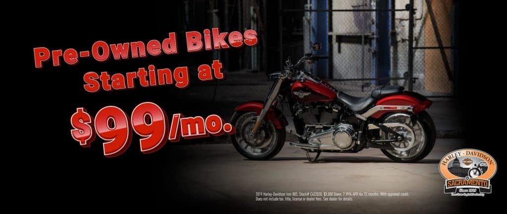 Pre-Owned Bikes Starting at $99/mo!