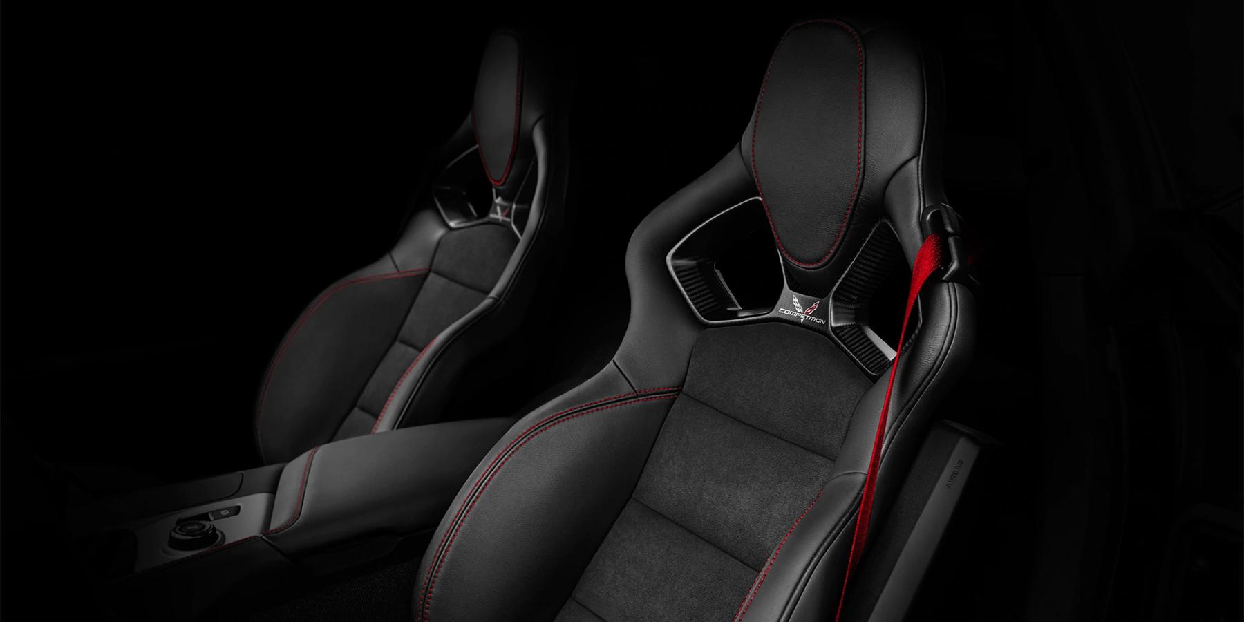 black bucket seats of Corvette Z06