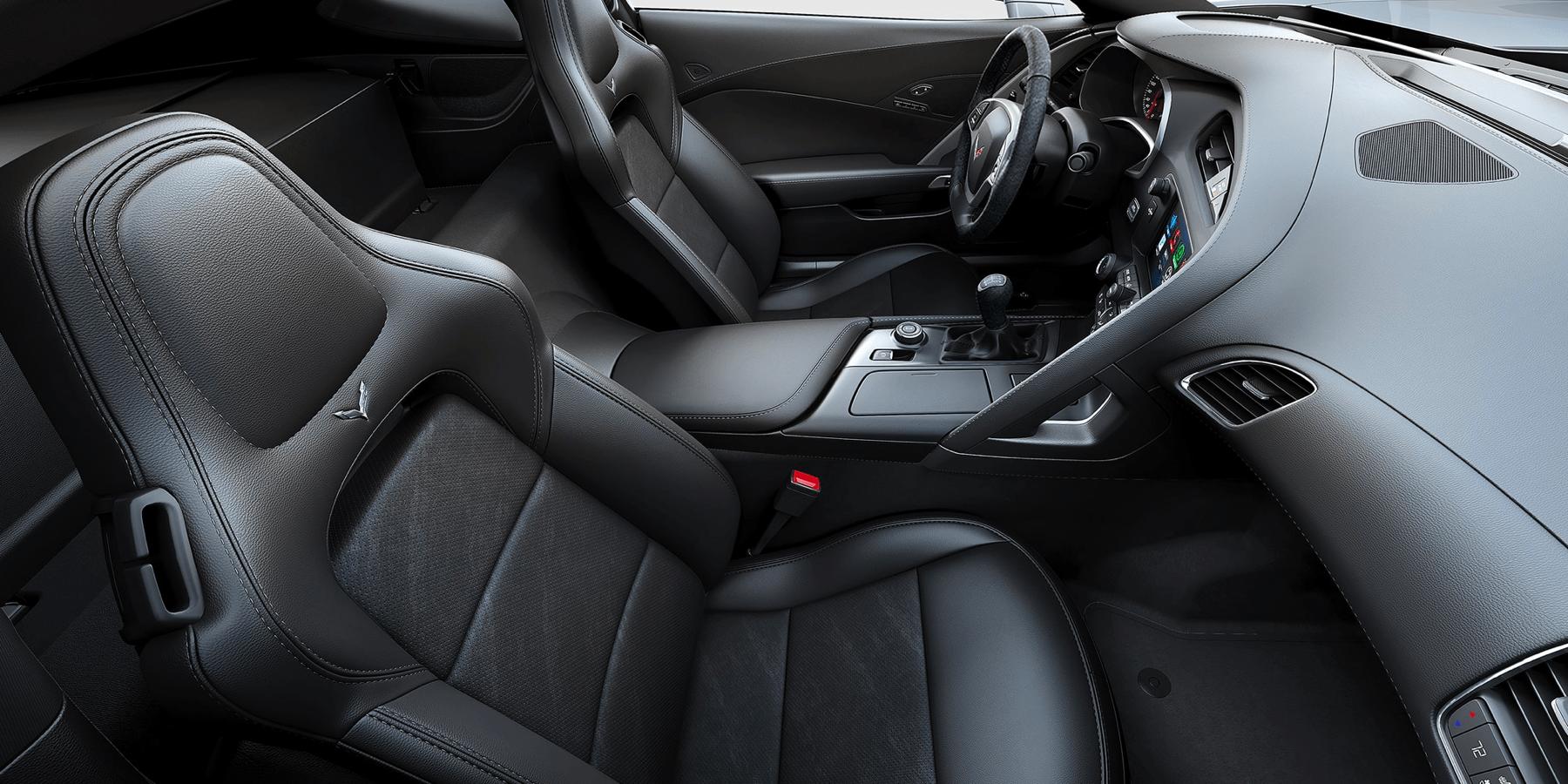 black leather Grand sport bucket seats