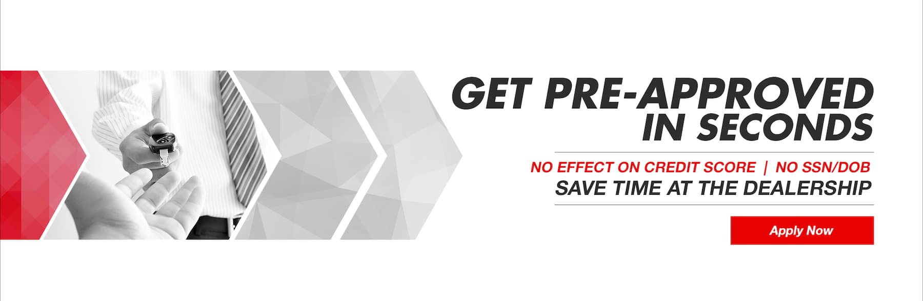 get pre approved homepage banner