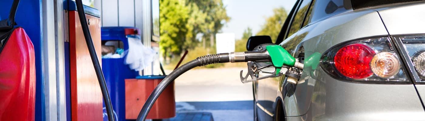 Car at a gas pump