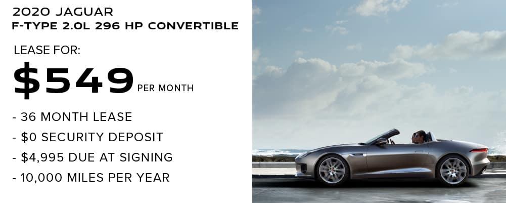 2020 Jaguar F-TYPE 2.0L 296 HP Convertible