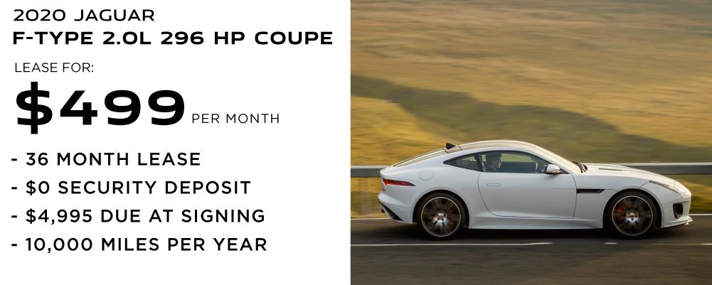 2020 Jaguar F-TYPE 2.0L 296 HP Coupe
