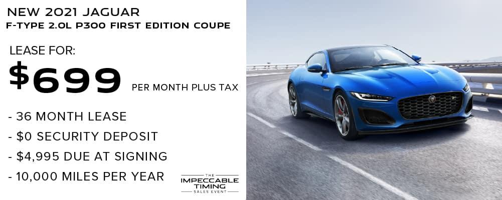 2021 Jaguar F-TYPE 2.0L P300 First Edition Coupe