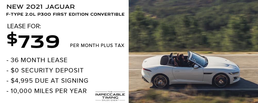 2021 Jaguar F-TYPE 2.0L P300 First Edition Convertible
