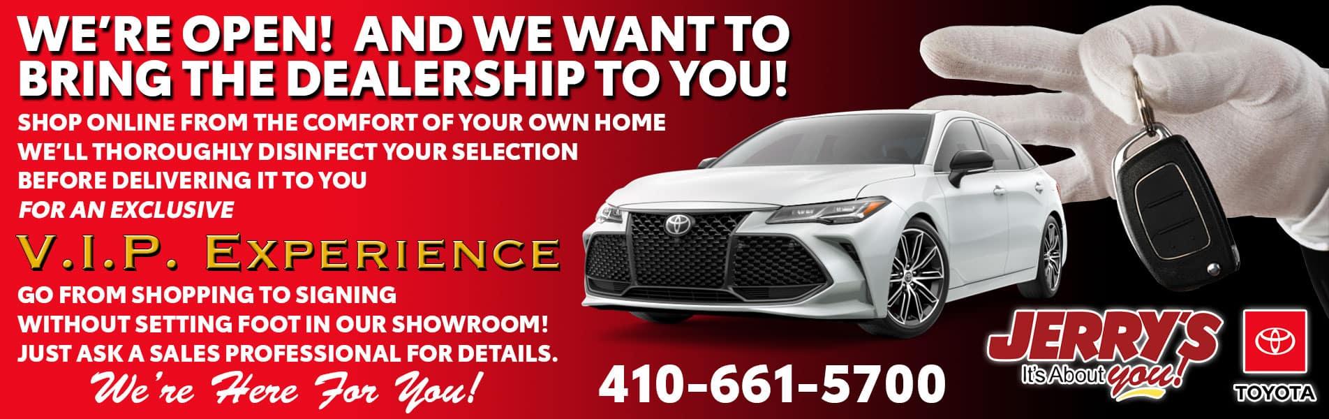 Jerry's Toyota now has concierge.