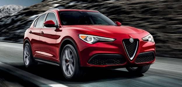 Alfa Romeo Stelvio driving