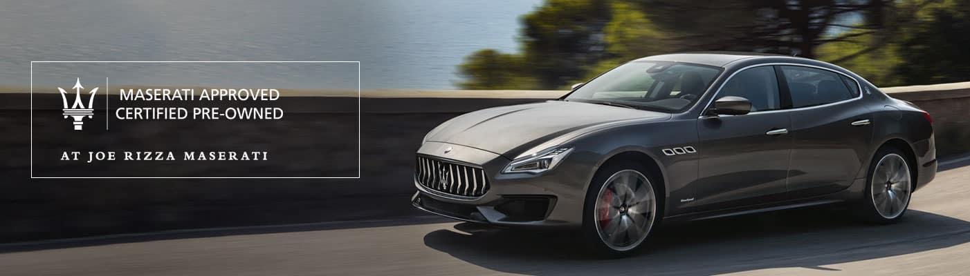 Maserati Certified Pre-Owned Program at Joe Rizza Maserati