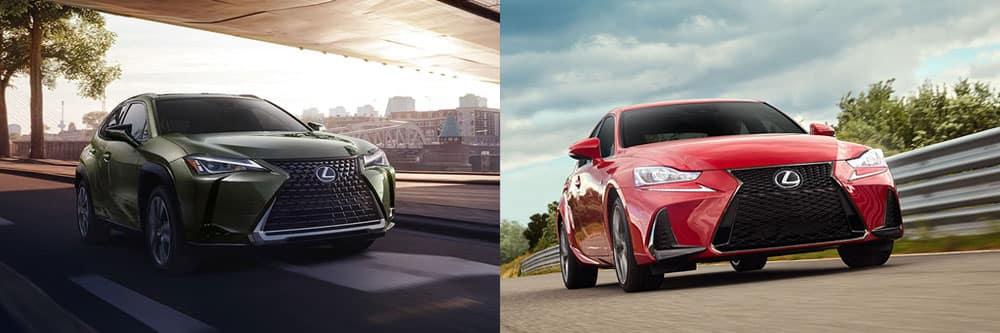 Compare 2020 Lexus UX and 2020 Lexus IS
