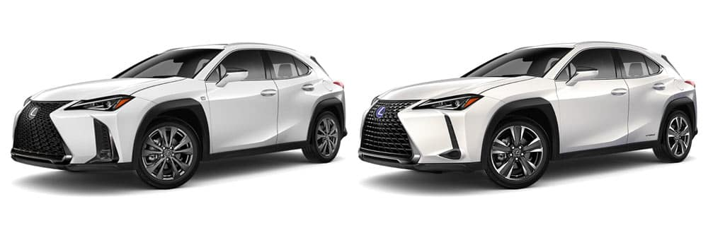 Compare 2020 Lexus UX 200 F Sport and 2020 Lexus UX 250h F Sport