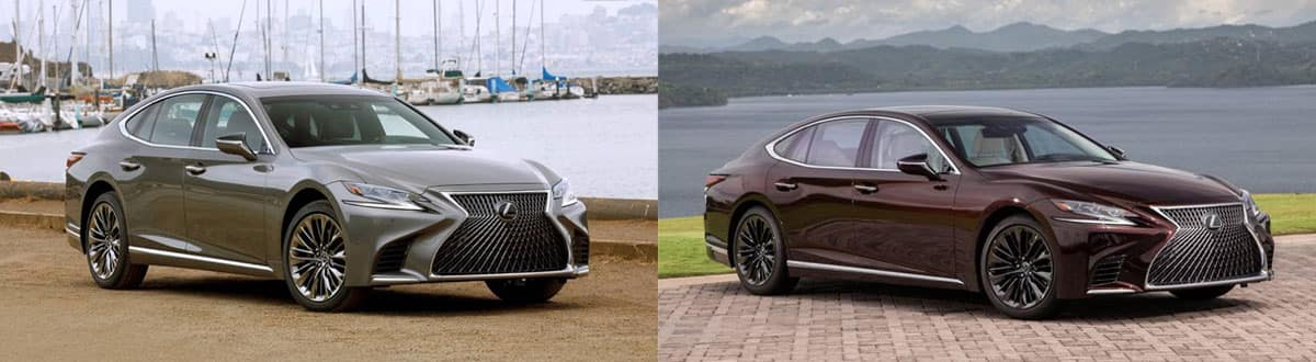Compare 2020 Lexus LS 500 and 2020 Lexus LS Inspiration Series