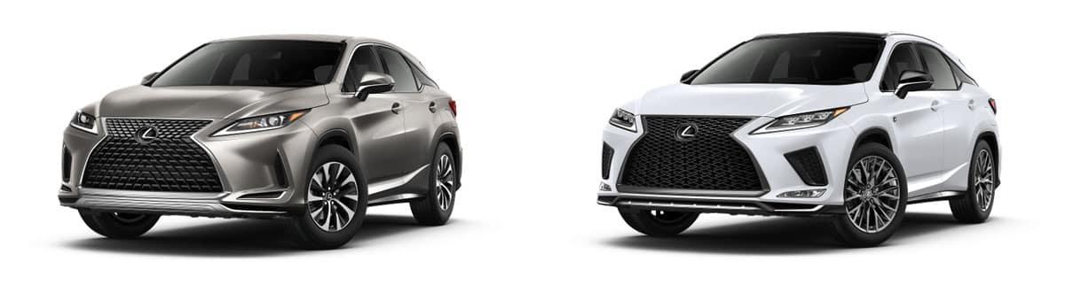 Compare 2020 Lexus RX 350 and 2020 Lexus RX 350 F Sport