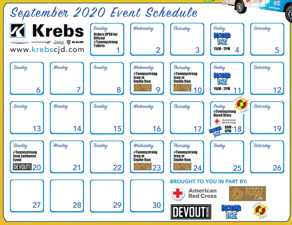 September 2020 Event Schedule