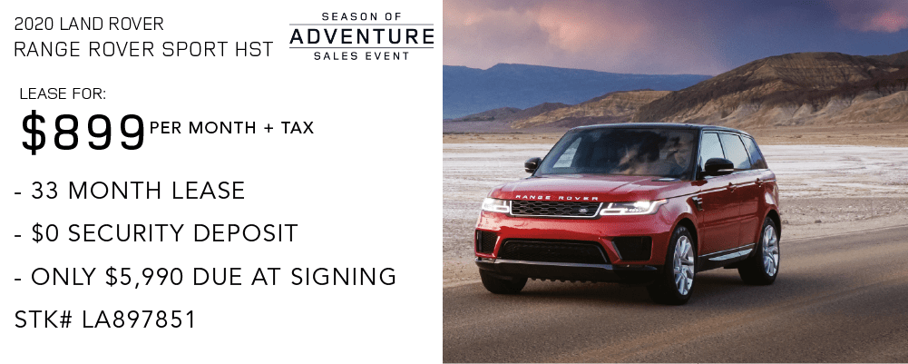 New 2020 Land Rover Range Rover Sport HST With Navigation & 4WD