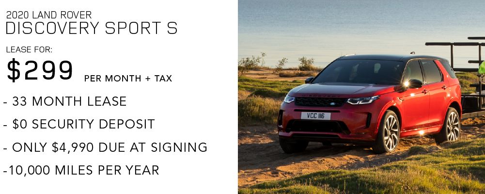 New 2020 Land Rover Discovery Sport Standard 4WD