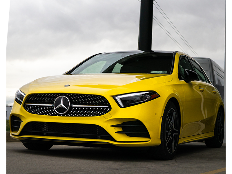 New car, yellow
