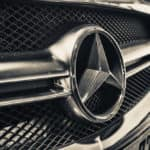 Close up of Mercedes-Benz vehicle