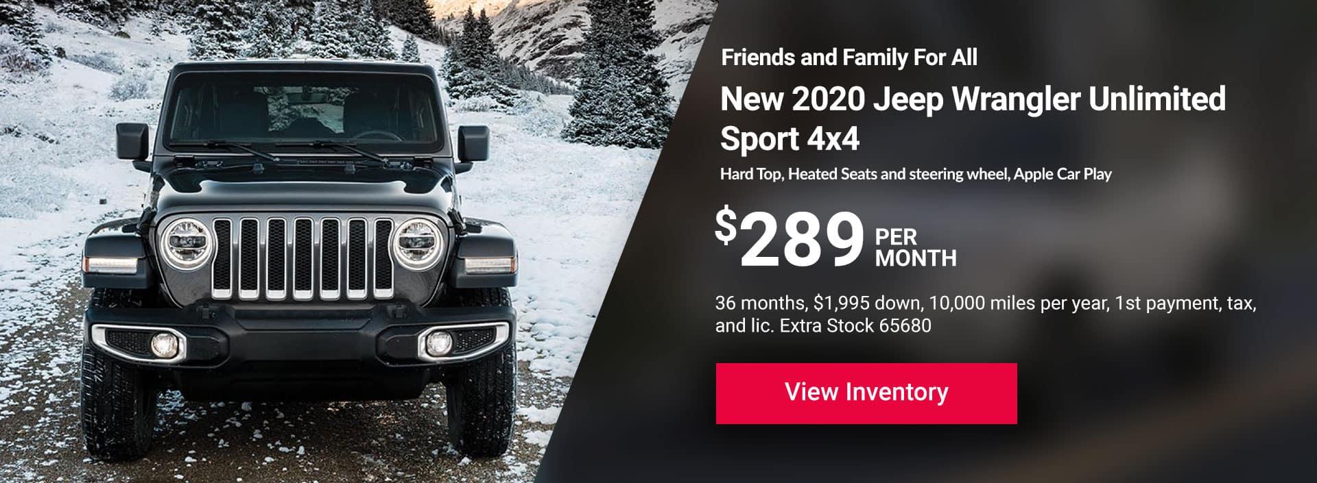 2020 Jeep Wrangler Unlimited Sport 4x4