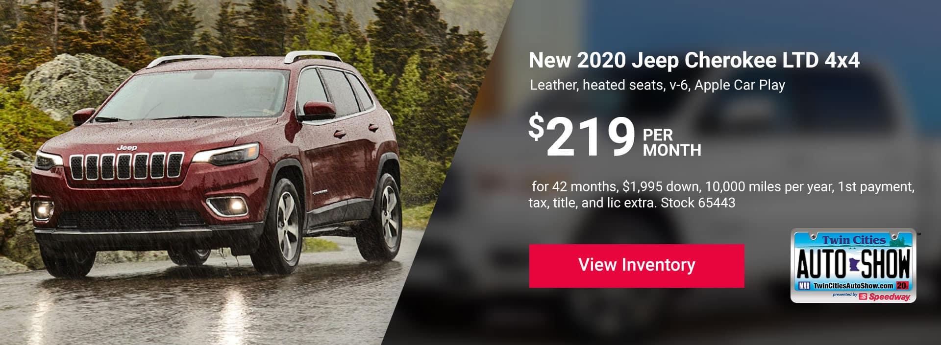 2020 Jeep Cherokee LTD 4x4
