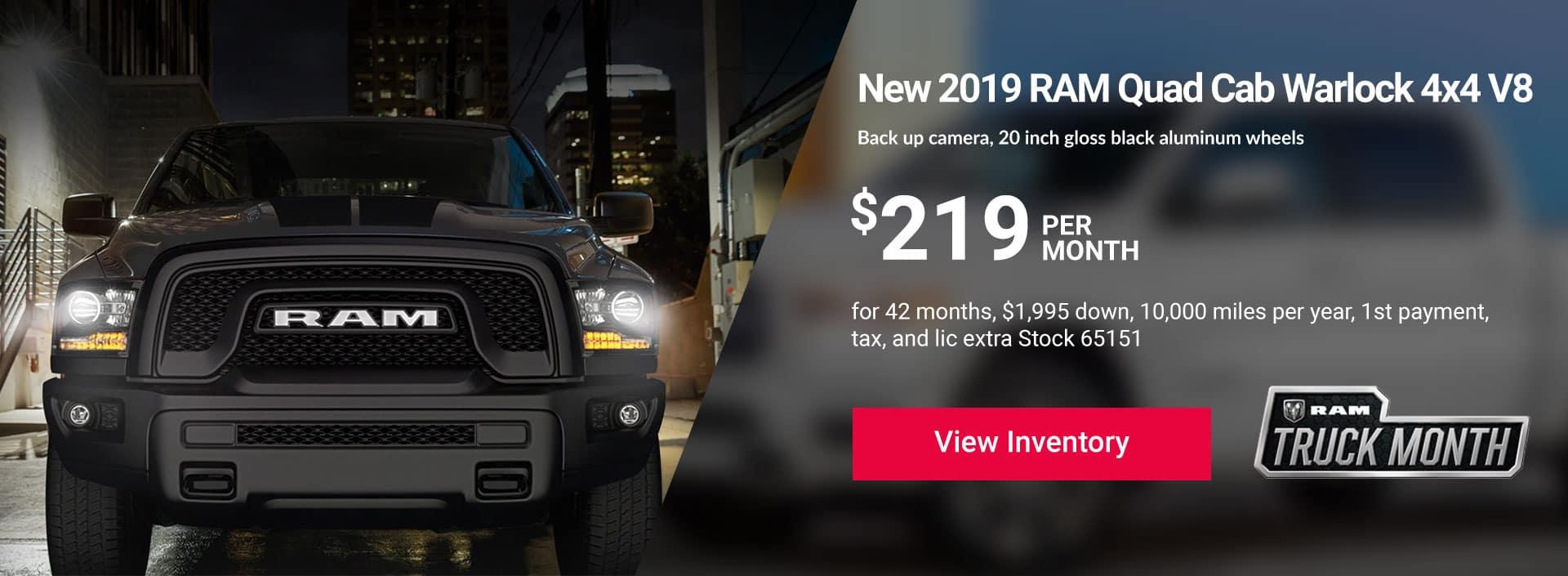 2019 RAM Quad Cab Warlock