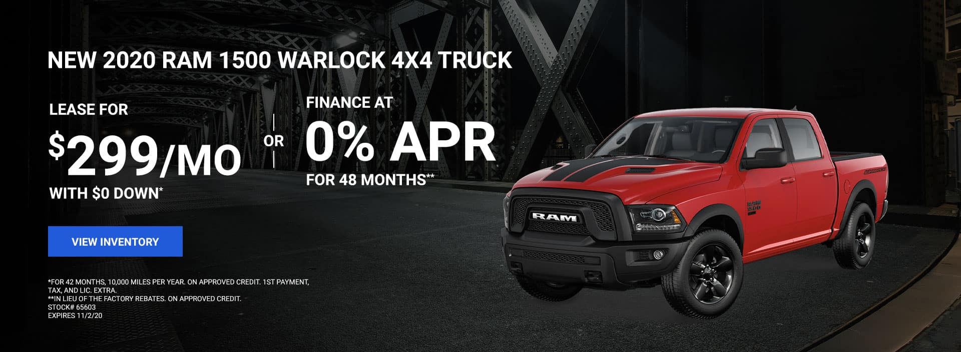 2020 RAM 1500 Warlock 4x4 Truck