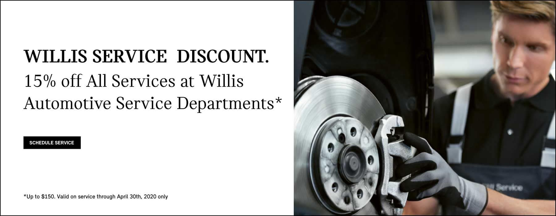 willis discount on service